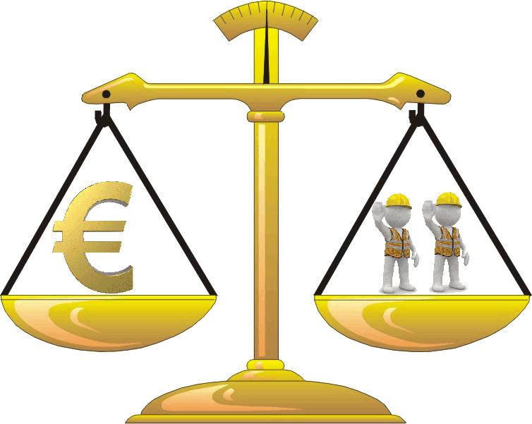Bilancia della manodopera: il giusto valore orario