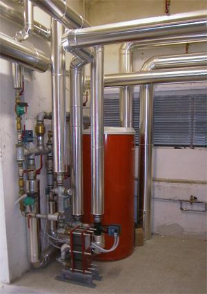 Vuesse: impianto impianto per produzione acqua calda presso Piscina del Passetto (Ancona)