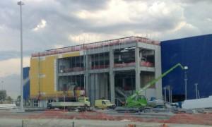 MC Impianti: realizzazione impianto elettrico cantiere Ikea Ancona e Rimini