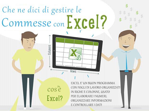 Imprenditore che sceglie Excel per la gestione delle commesse
