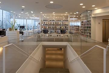 Biblioteca Comunale di Maranello: particolari dell'impianto installato