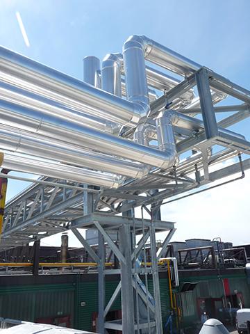 Impianto industriale realizzato presso Guascor Italia Spa - Modena