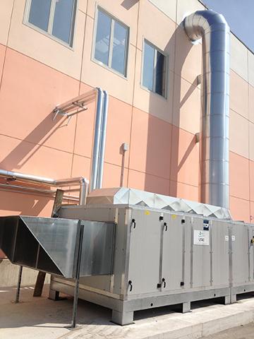 Particolare dell'impianto termoidraulico realizzato presso Redax Spa - Mirandola