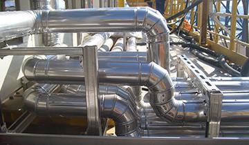 Realizzazione presso Piattaforma Clipper - impianto condizionamento