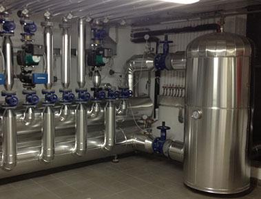 GS Termica: esempio di installazione - sottocentrale termica